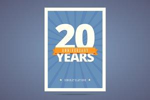 20 year anniversary card