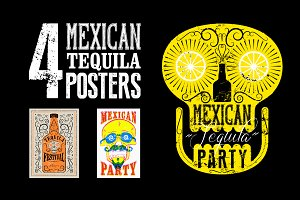 Mexican Tequila Party poster.