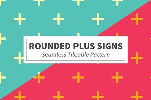 Rounded Plus Signs Seamless Pattern