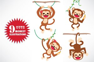 Cute Monkey Collection