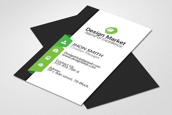 Vertical Business Card Template ~ Card Templates ~ Creative Market