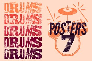 Typographical drums poster.