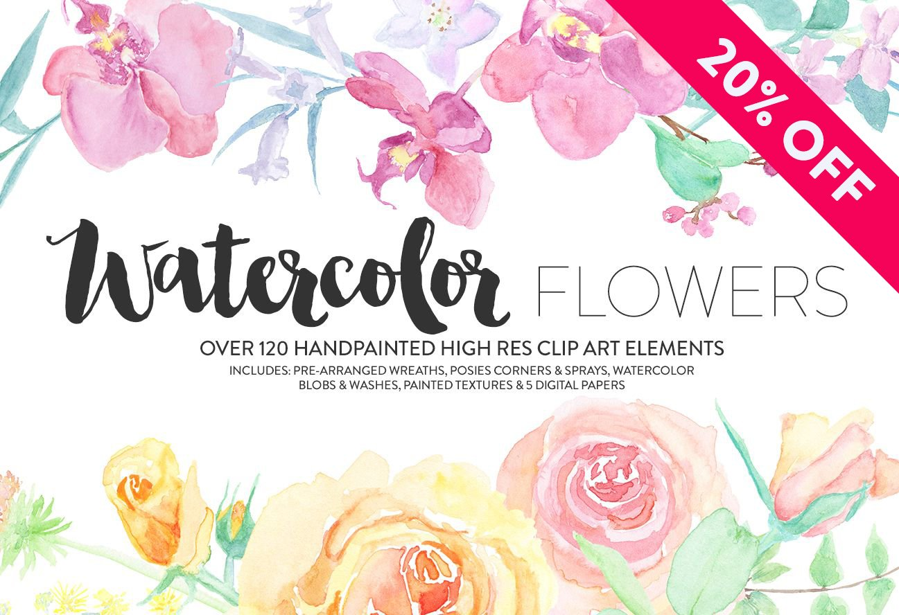 Watercolor flowers png clipart illustrations on creative market - Watercolor Flowers Png Clipart Illustrations On Creative Market 23
