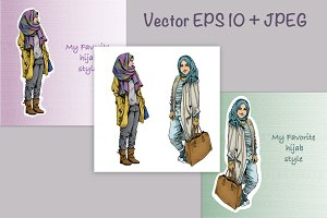Young muslim girls hijab fashion