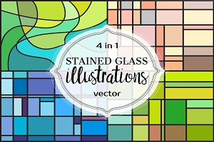 STAINED GLASS Illustrations