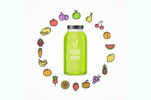 Juice Bottle Jar Template. Vector