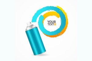 Spray Can Write Speech Bubble