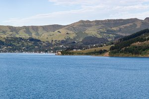 Panorama of Akaroa Harbour NZ
