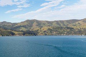 Panorama of Akaroa Harbour NZ