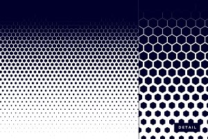 Honeycomb halftone pattern