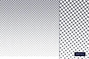 Halftone grid pattern