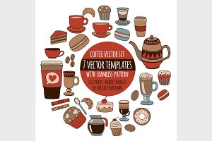 Coffee vector set
