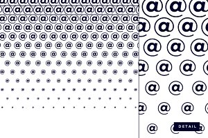 At symbol half tone pattern