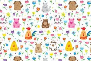 Doodle farm animals