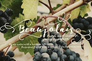 Beaujolais font pair + extras