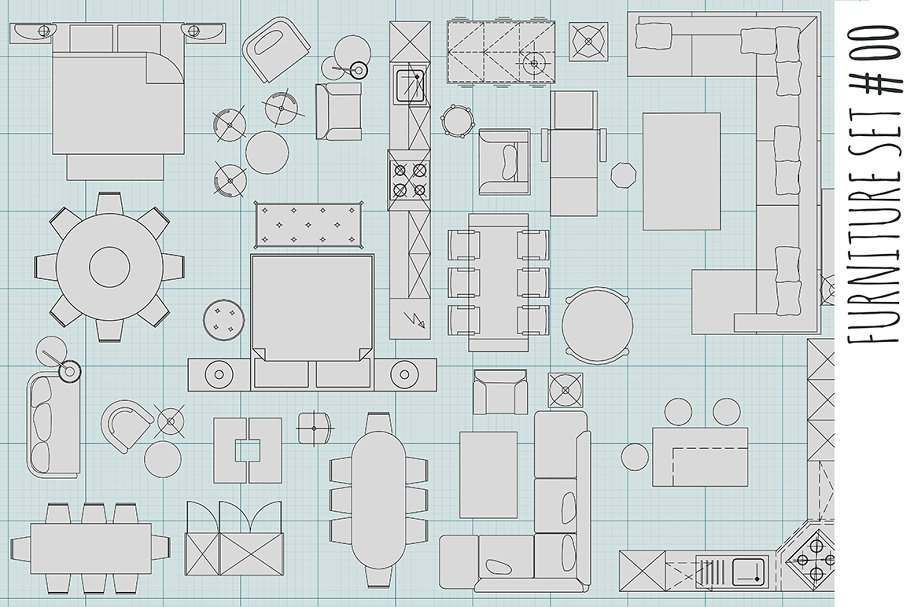 Standard Furniture Symbols 00