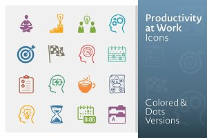 Productivity at Work Icons | Colored