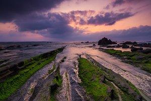 Barrika beach colours