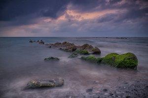 Barrika beach sunset