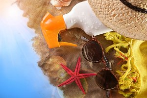 Articles for sun protection on sand