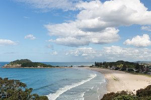 Town of Tauranga in New Zealand