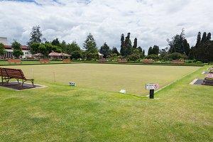 Bowling green in Rotorua NZ