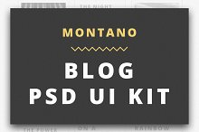 Montano Blog PSD UI KIT