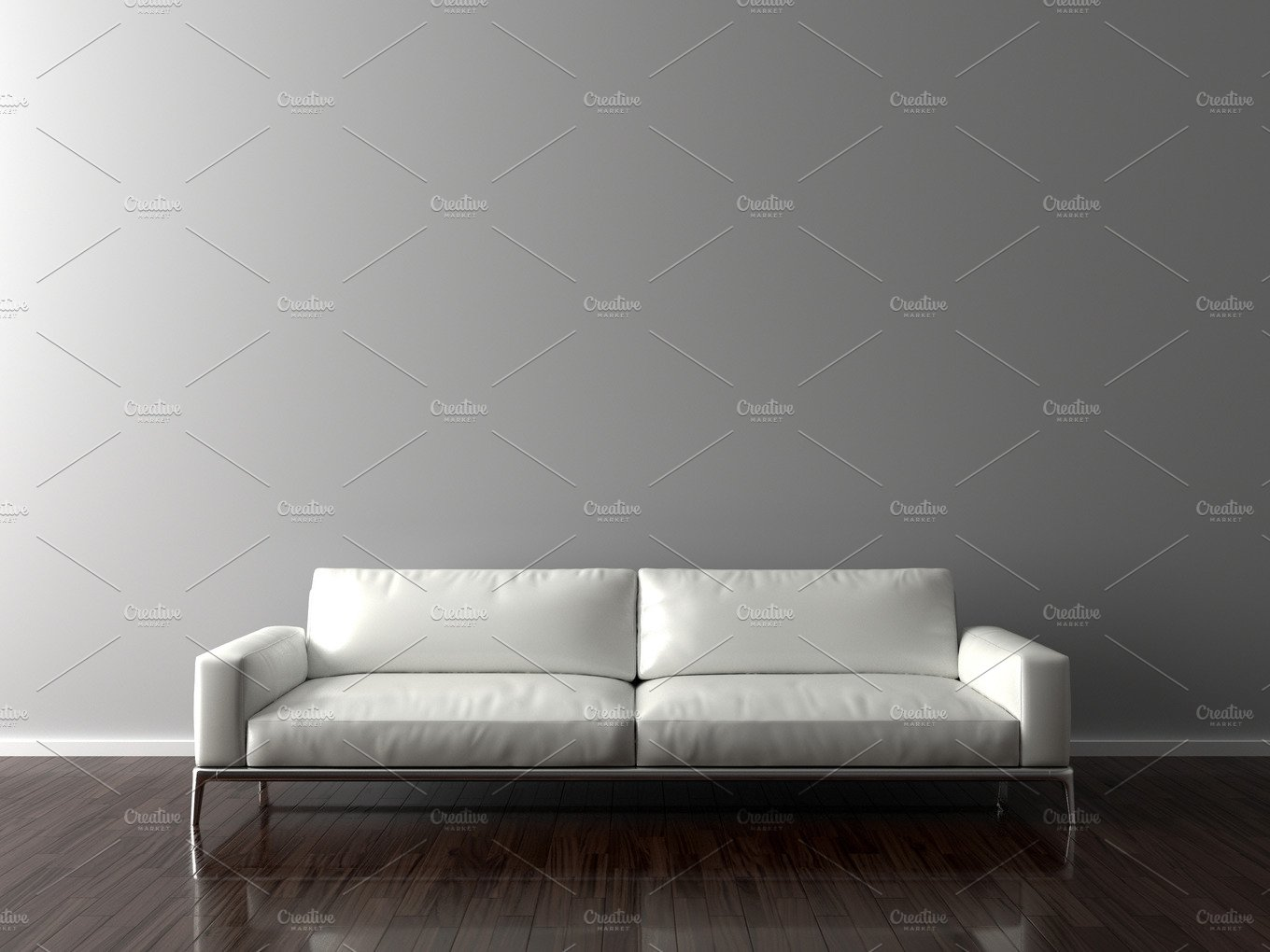 blank wall in empty room with sofa architecture photos