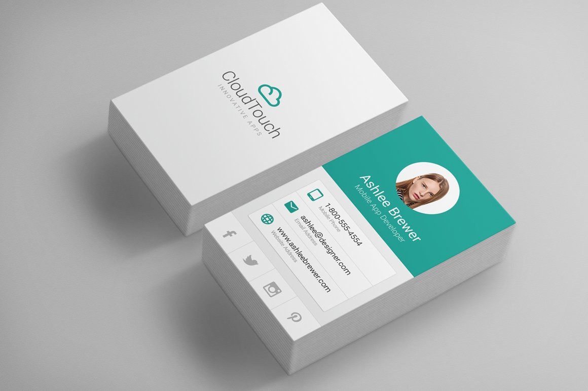 Material Design Business Cards ~ Business Card Templates ...