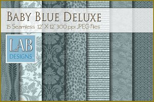 15 Baby Blue Deluxe Fabric Textures