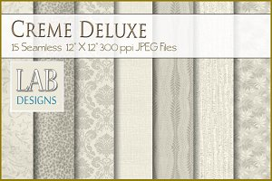 15 Creme Deluxe Fabric Textures