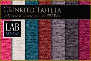 24 Crinkled Taffeta Fabric Textures