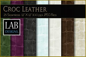 25 Seamless Croc Leather Textures