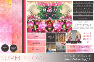 Summer Lovin Website/Blog Kit