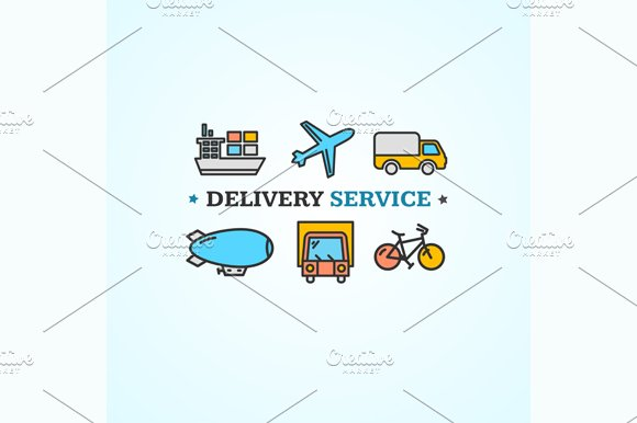 Delivery Concept. Vector - Illustrations