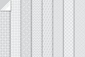 Set of 8 seamless patterns