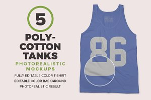 Poly-Cotton Tanks Mockups