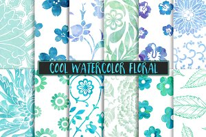 Cool Watercolor Floral Backgrounds