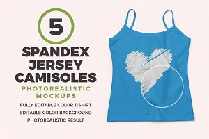 Spandex Jersey Camisoles Mockups