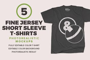 Fine Jersey Short Sleeve Mockups