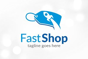 Fast Shop Logo Template