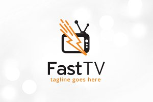 Fast TV Logo Template