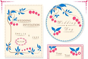 Invitation cards and tag ONLY design
