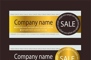 Sale voucher template gold
