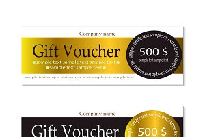 Vector gift voucher gold