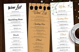 Wine List - Wine Menu