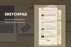 Sketchpad - Cheap WordPress Theme