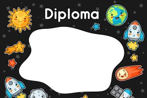 Kawaii space diploma.