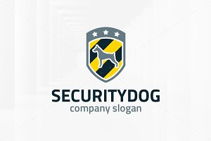 Security Dog Logo Template
