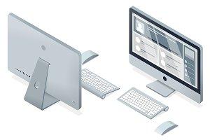 isometric modern computer flat